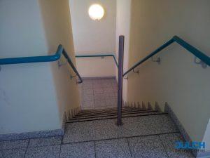 Treppen Absturzsicherung Edelstahl Pfosten Pflegeheim