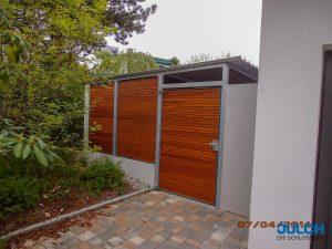 Verkleidung Garage Holz Sichtschutz Windschutz verzinkt