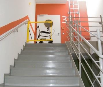 Altersheim Sicherheitslösung Treppenhaus