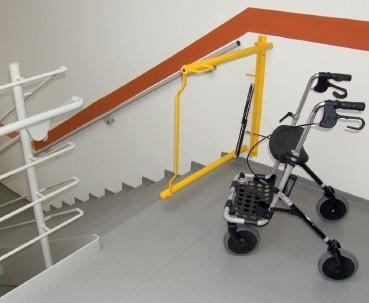 Treppensicherung Absturz Gehbehinderte