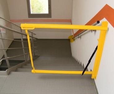 Absturzsicherung Treppenhaus, Pflegeheim,