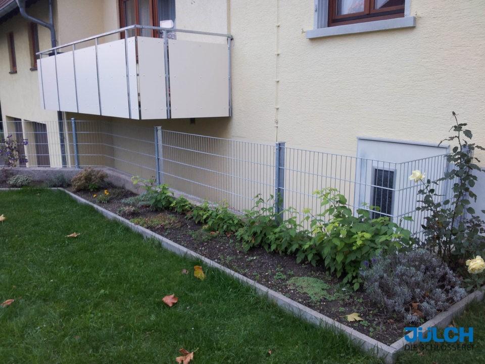 Gartenzaun Doppelstabmatte feuerverzinkt