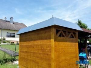 Verkleidung Dach Schuppen Haeuschen Gartenhaus Alublech