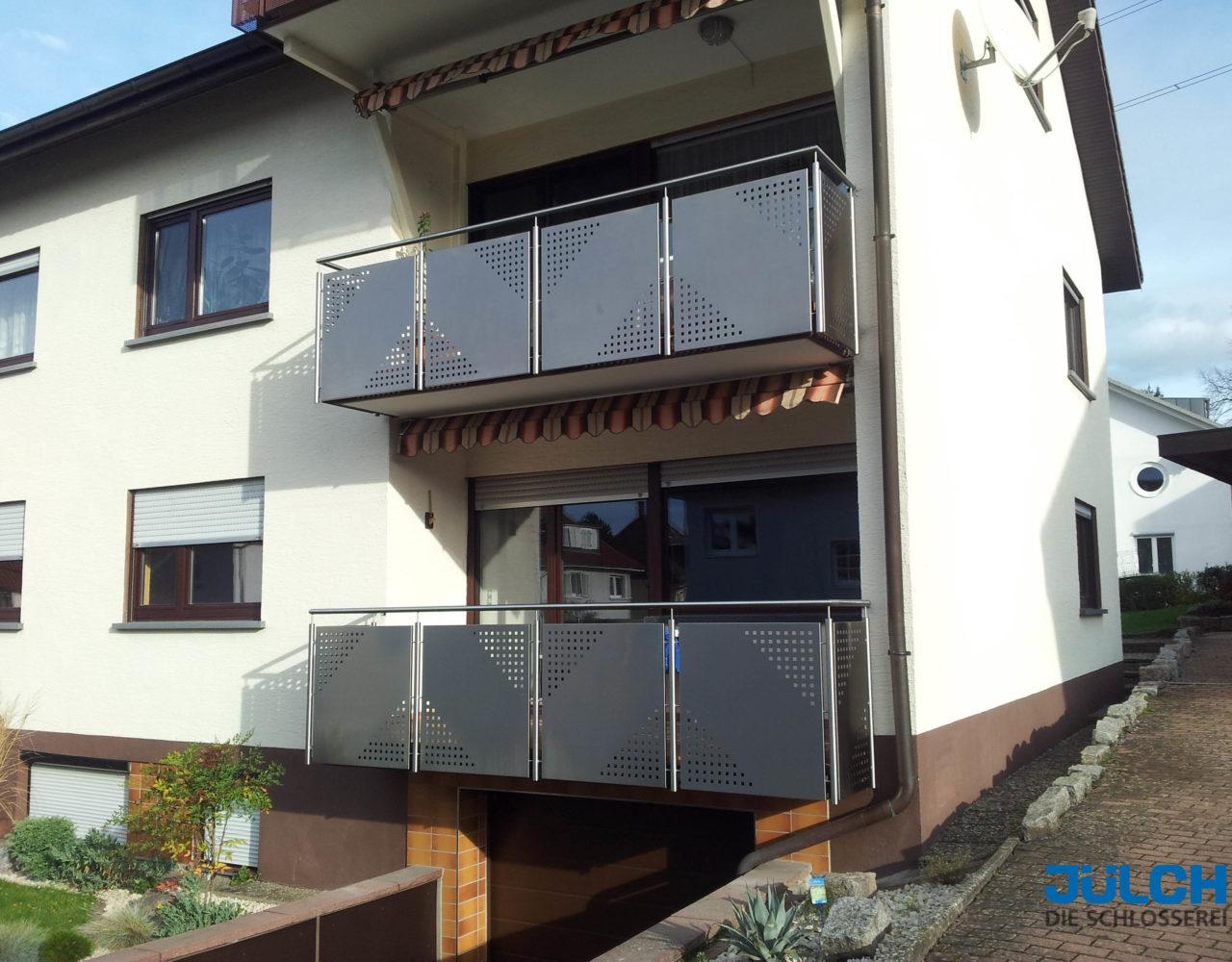 Balkon Lochblech, teillochung Edelstahl
